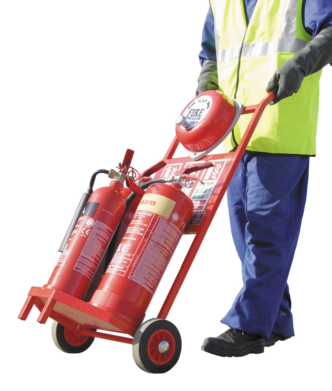 Fire Safety Trolley, 3 Cylinder