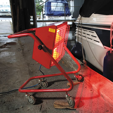 3Kw Swivel Radiant Heater 240V HSS Hire