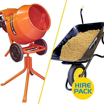 Tip Up Concrete Mixer Hire Packs