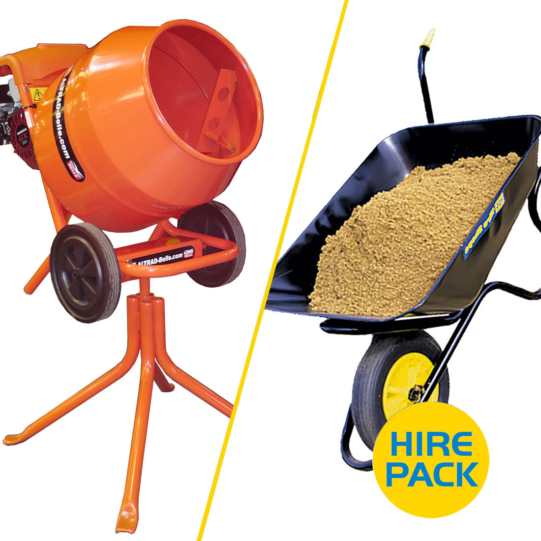 Tip-Up Concrete Mixer Hire Pack 1