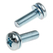 m5-x-16mm-zinc-plated-steel-pan-head-sems-screw-plain-washer