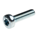zinc-plated-clear-passivated-pan-steel-tamper-proof-security-screw-m3-x-12mm