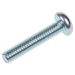 bright-zinc-plated-pan-steel-tamper-proof-security-screw-m4-x-20mm