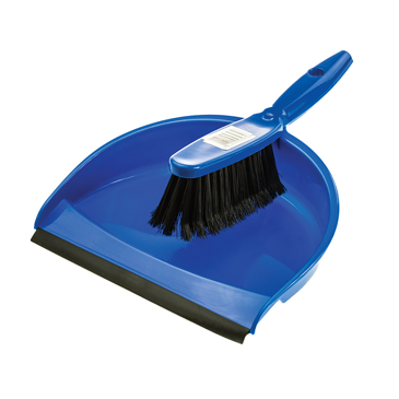 blue-dustpan-brush-for-dust-with-brush-included