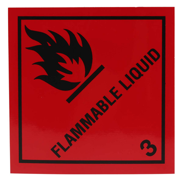 RS PRO Vinyl Safety Labels, Flammable Liquid-Text 100 mm x 100mm