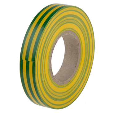 RS PRO Green, Yellow PVC Electrical Tape, 12mm x 20m
