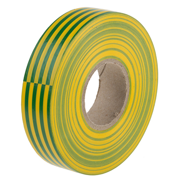 RS PRO Green, Yellow PVC Electrical Tape, 19mm x 33m