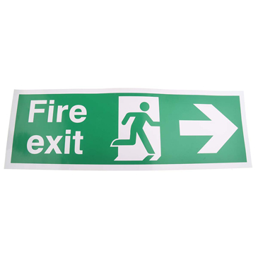 PET FIRE EXIT, Fire Exit, English, Exit Sign