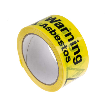 RS PRO Black/Yellow Vinyl Safety Labels, Warning Asbestos-Text 33 m x 50mm
