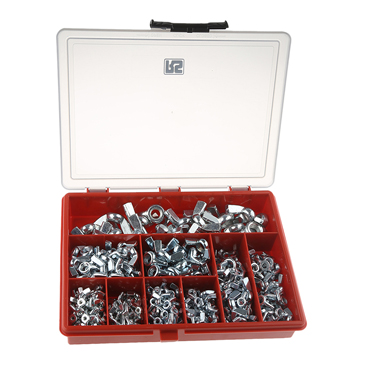 RS PRO 340 Piece Steel Wing Nuts Box