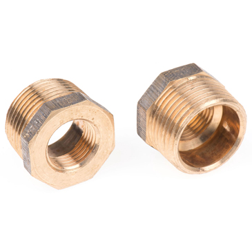 RS PRO Bronze 1 in BSPT Male x 1/2 in BSPP Female Straight Reducer Bush Threaded Fitting