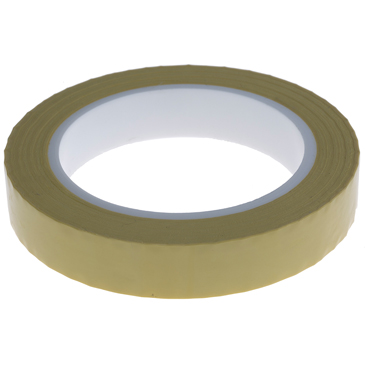 RS PRO AT4004 Yellow Polyester Electrical Tape, 19mm x 66m