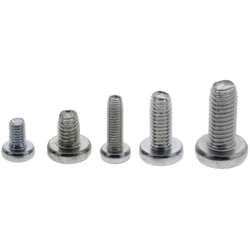 bright-zinc-plated-clear-passivated-steel-pan-head-self-tapping-screw