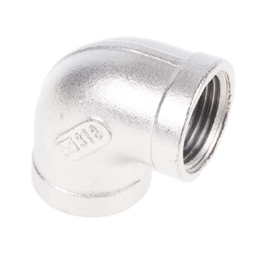 RS PRO Stainless Steel 90° Elbow 3/8in G(P) Female x 3/8in G(P) Female