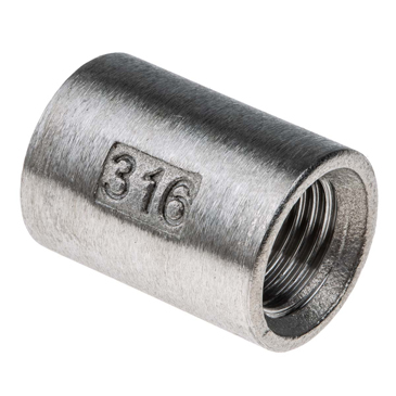 RS PRO Stainless Steel Socket 1/4in G(P) Female x 1/4in G(P) Female
