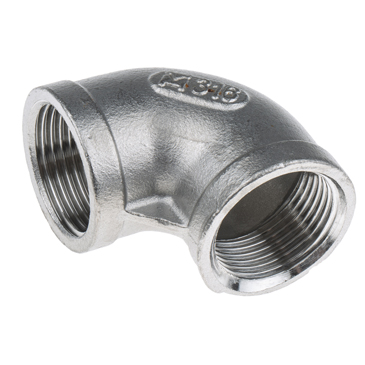 RS PRO Stainless Steel 90° Elbow 3/4in G(P) Female x 3/4in G(P) Female
