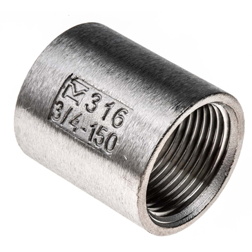 RS PRO Stainless Steel Socket 3/4in G(P) Female x 3/4in G(P) Female