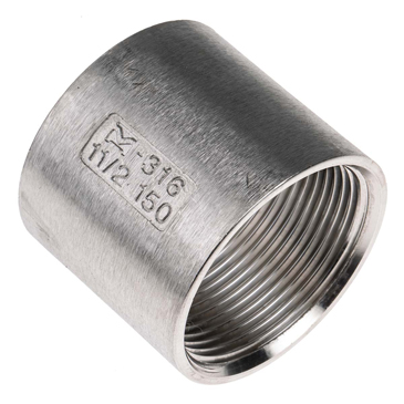 RS PRO Stainless Steel Socket 1-1/2in G(P) Female x 1-1/2in G(P) Female