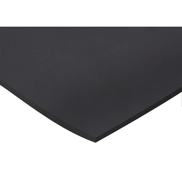 RS PRO Black Rubber Sheet, 1m x 1.2m x 3mm