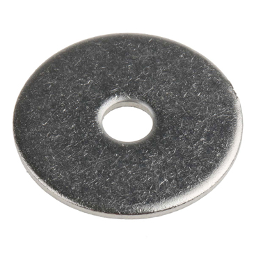 Plain Stainless Steel Mudguard Washer, M5 x 25mm, 1.2mm Thickness