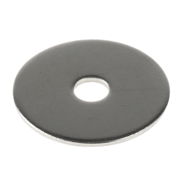 Plain Stainless Steel Mudguard Washer, M6 x 30mm, 1.5mm Thickness