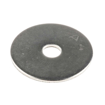 Plain Stainless Steel Mudguard Washer, M5 x 25mm, 1.5mm Thickness