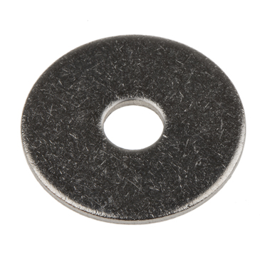 Plain Stainless Steel Mudguard Washer, M6 x 25mm, 1.5mm Thickness