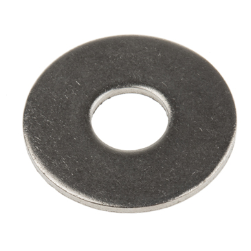 Plain Stainless Steel Mudguard Washer, M8 x 25mm, 1.5mm Thickness