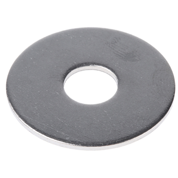 Plain Stainless Steel Mudguard Washer, M10 x 35mm, 1.5mm Thickness