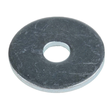 Bright Zinc Plated Steel Mudguard Washer, M5 x 20mm, 1.5mm Thickness