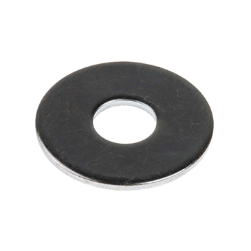 Bright Zinc Plated Steel Mudguard Washer, M8 x 25mm, 1.5mm Thickness