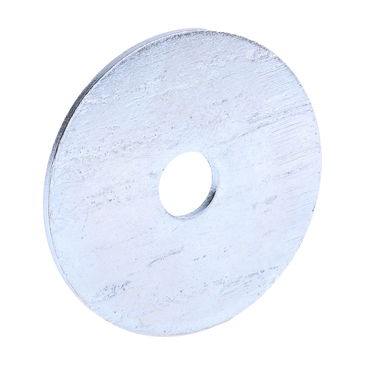 Bright Zinc Plated Steel Mudguard Washer, M10 x 50mm, 1.5mm Thickness