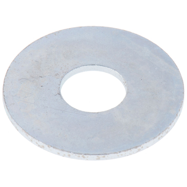 Bright Zinc Plated Steel Mudguard Washer, M10 x 30mm, 1.5mm Thickness