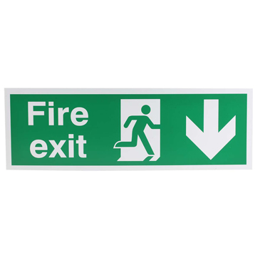 Plastic FIRE EXIT, Fire Exit, English, Exit Sign