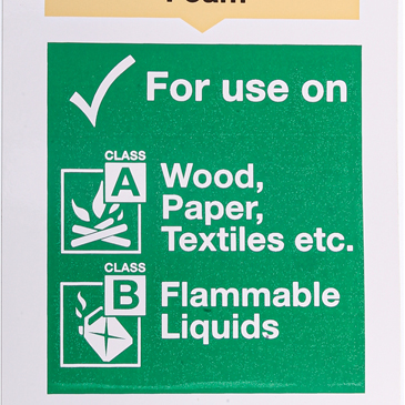 Vinyl Fire Safety Sign, Flammable Liquids, For Use On - Wood, Paper, Textiles With English Text Self-Adhesive