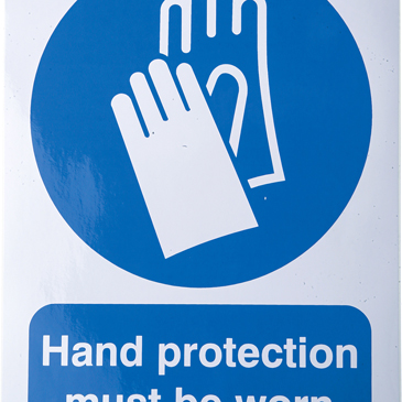 RS PRO Vinyl Mandatory Protective Gloves Sign With English Text