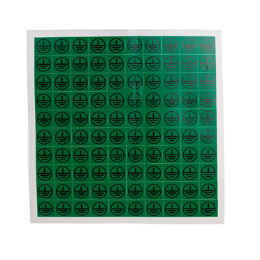 RS PRO Black/Green Vinyl Safety Labels, Symbol-Text 12.5 mm x 12.5mm