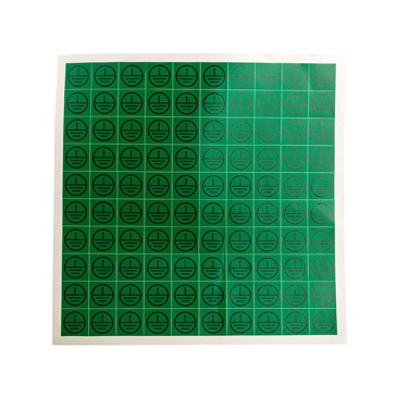 RS PRO Black/Green Vinyl Safety Labels, Symbol-Text 25 mm x 25mm