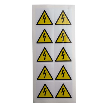 RS PRO Black/White/Yellow Vinyl Safety Labels, Symbol-Text 50 mm x 50mm