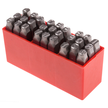 RS PRO 8mm x 27 Piece Engraving Letter Punch Set, (A to Z)
