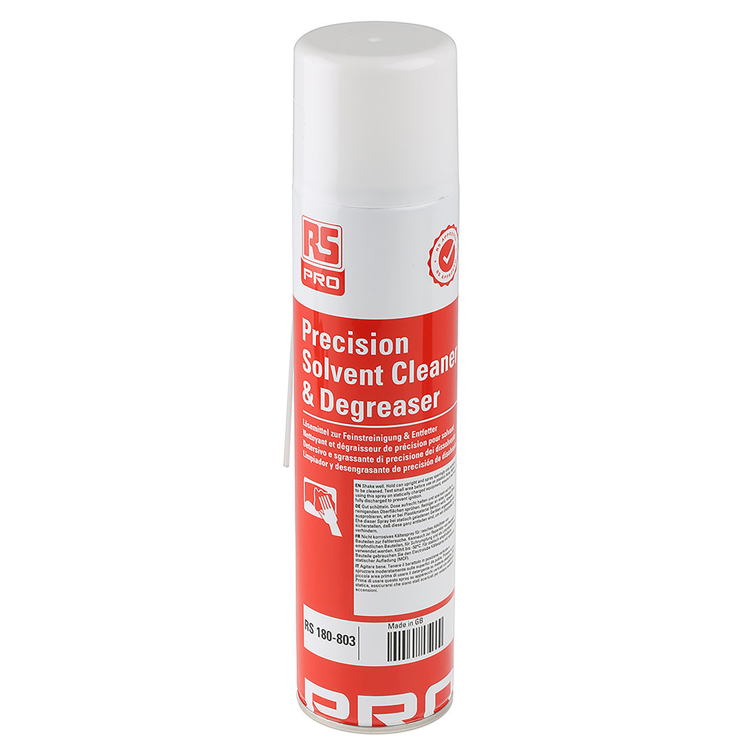 RS PRO 400 ml Aerosol Precision Cleaner & Degreaser for PCBs