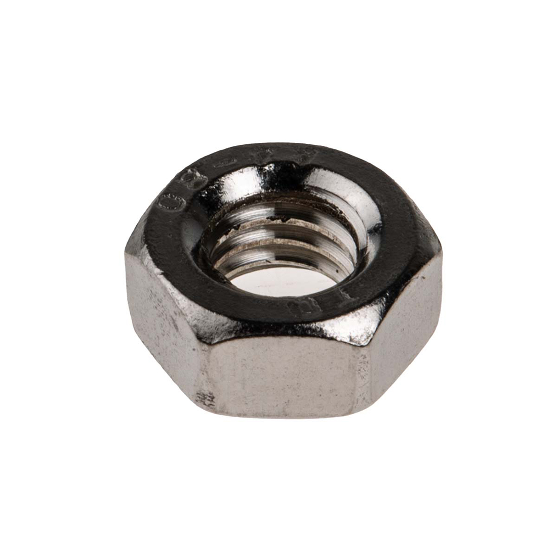 RS PRO Stainless Steel Hex Nut, Plain, M6 - 100 Pack