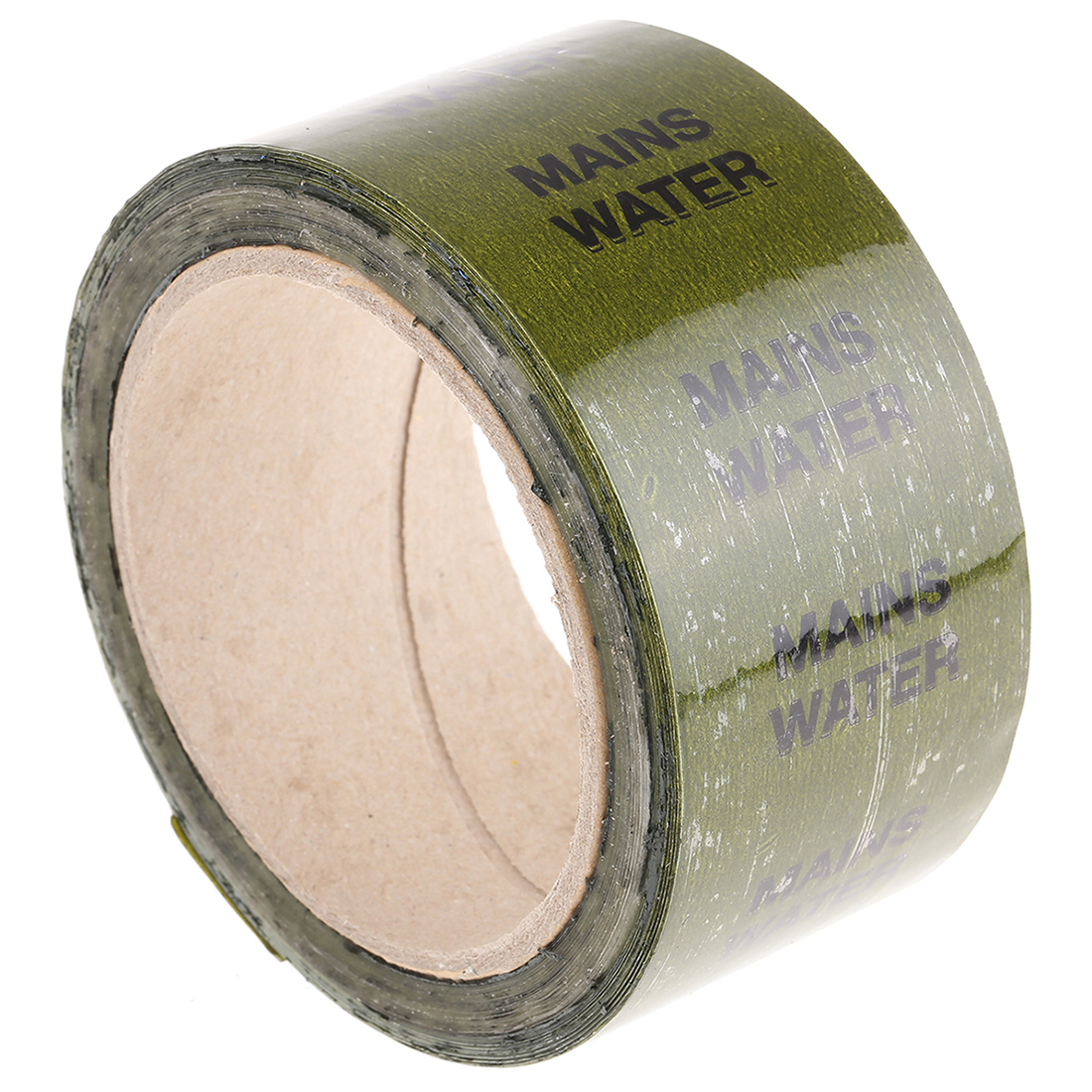 RS PRO Green PP, Vinyl Pipe Marking Tape, text Mains Water, Dim. W 50mm x L 33m - 33 Pack
