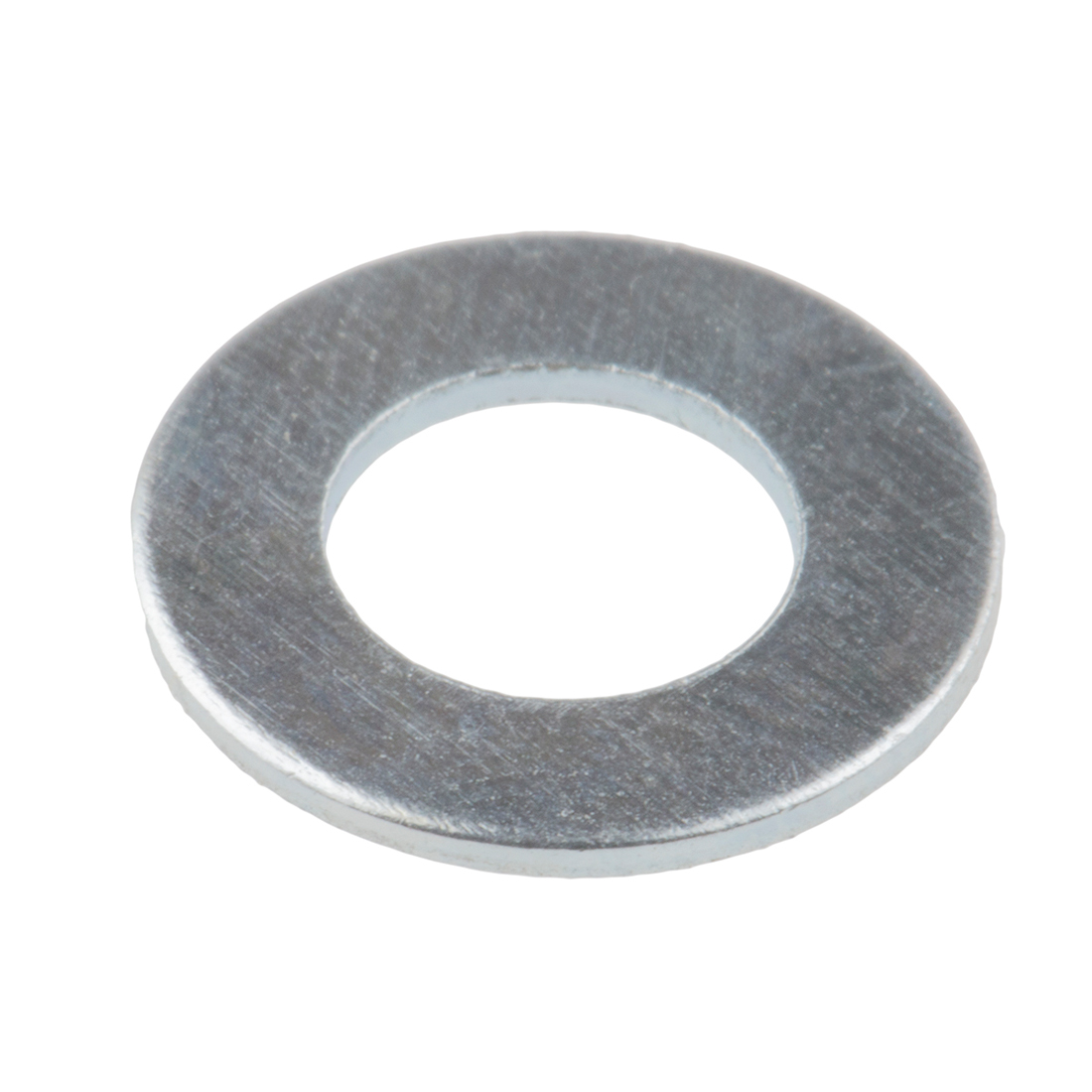 Bright Zinc Plated Steel Plain Washer, 0.9mm Thickness, M6 (Form B) - 100 Pack
