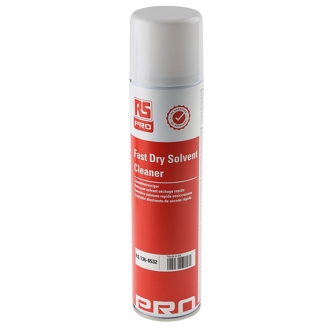 RS PRO 400 ml Aerosol Precision Cleaner for PCBs