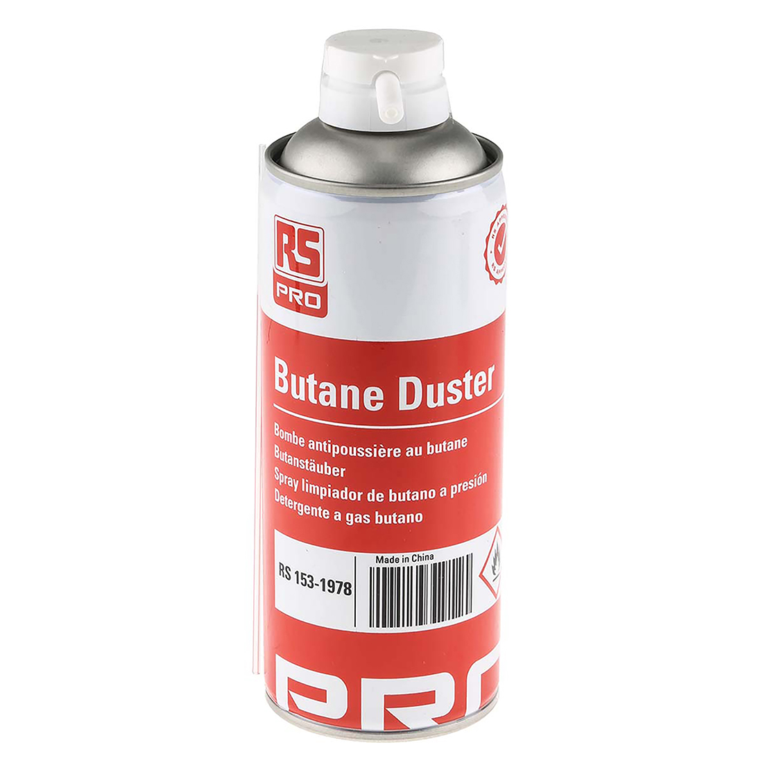 RS PRO Air Duster, 400 ml, Flammable