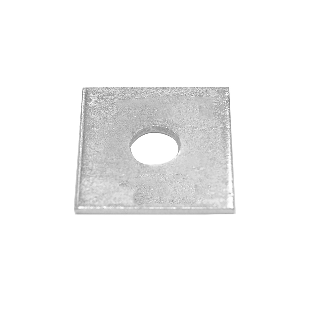 Bright Zinc Plated Square Bracket 1 Hole, 14mm Holes, M12 x 40 x 3mm - Pack of 10