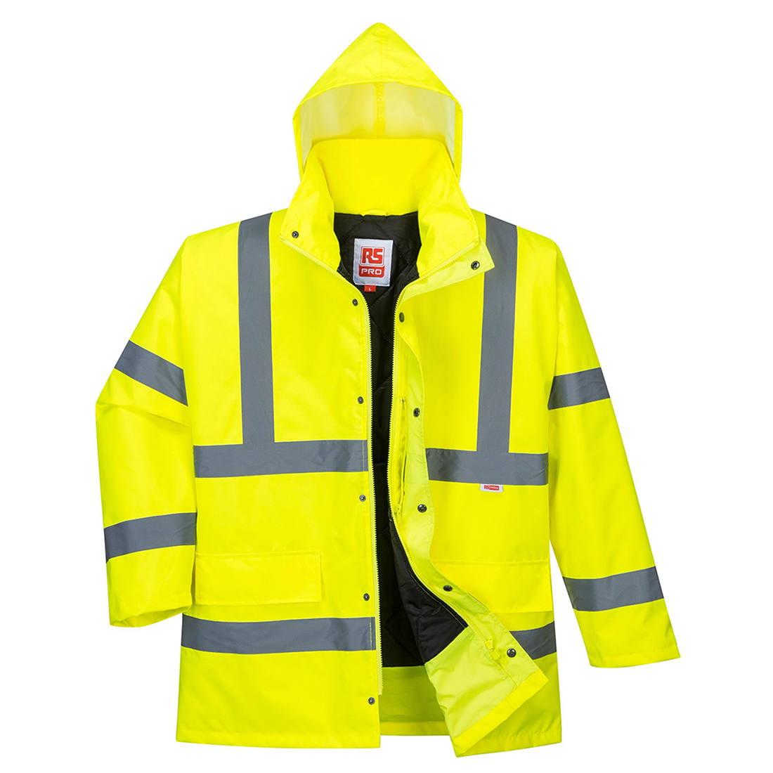 RS PRO Yellow Unisex Hi Vis Jacket, L