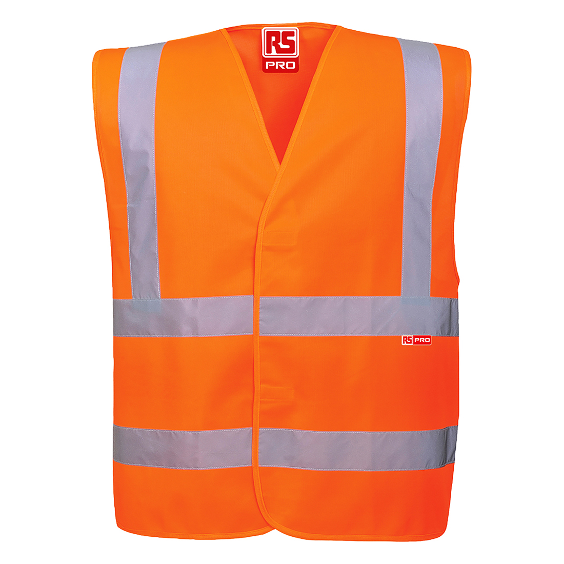 RS PRO Orange Breathable Hi Vis Vest, XXL to XXXL