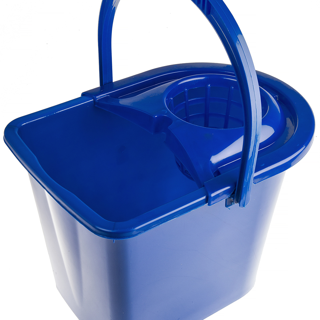 12L Plastic Blue Mop Bucket With Handle